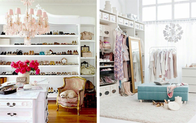 Bright and airy dressing rooms.