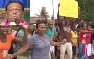 Booing for Minister John at Wattala!