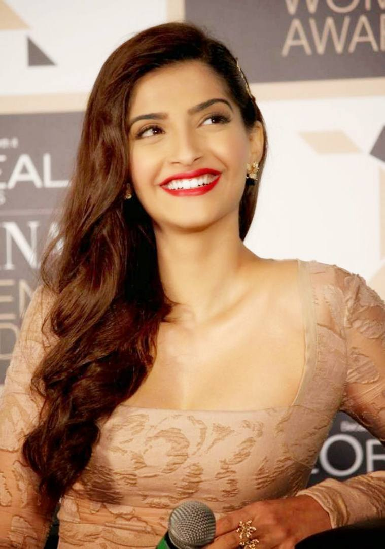 Low neck gown Sonam Kapoor