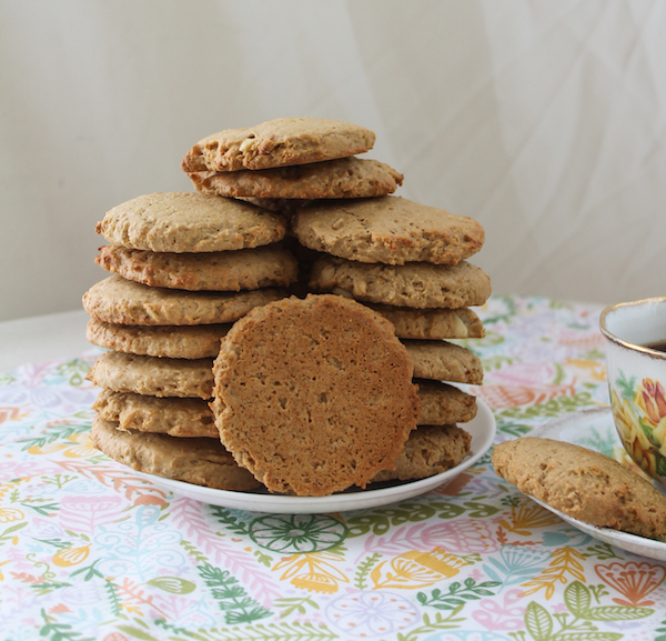 Food Lust People Love: Full of protein and fiber, baked with unrefined brown sugar, peanut butter oatmeal muffin top cookies make a great on-the-go breakfast or mid-morning snack.