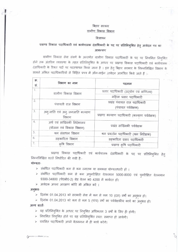 Block development officer bihar news