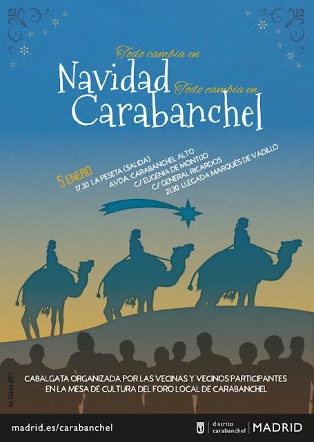 Cabalgata de Reyes Carabanchel 2018. Horario, fecha ty recorrido