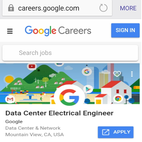 Google Apply kare job