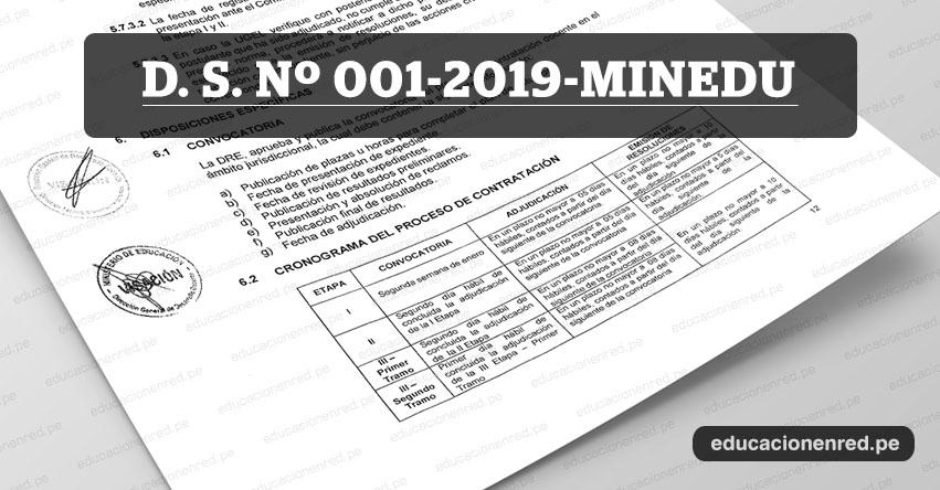 MINEDU publicó Anexos y Cronograma de la Directiva de Contrato Docente 2019 (D. S. Nº 001-2019-MINEDU) www.minedu.gob.pe