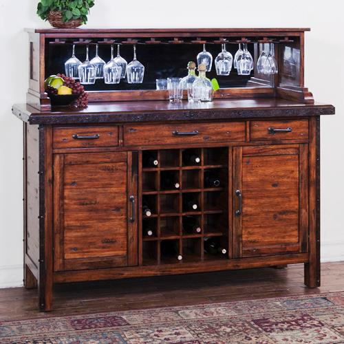 Kitchen Servers Furniture Server With Wine Rack