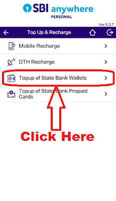 how to add money in sbi buddy wallet through sbi anywhere app