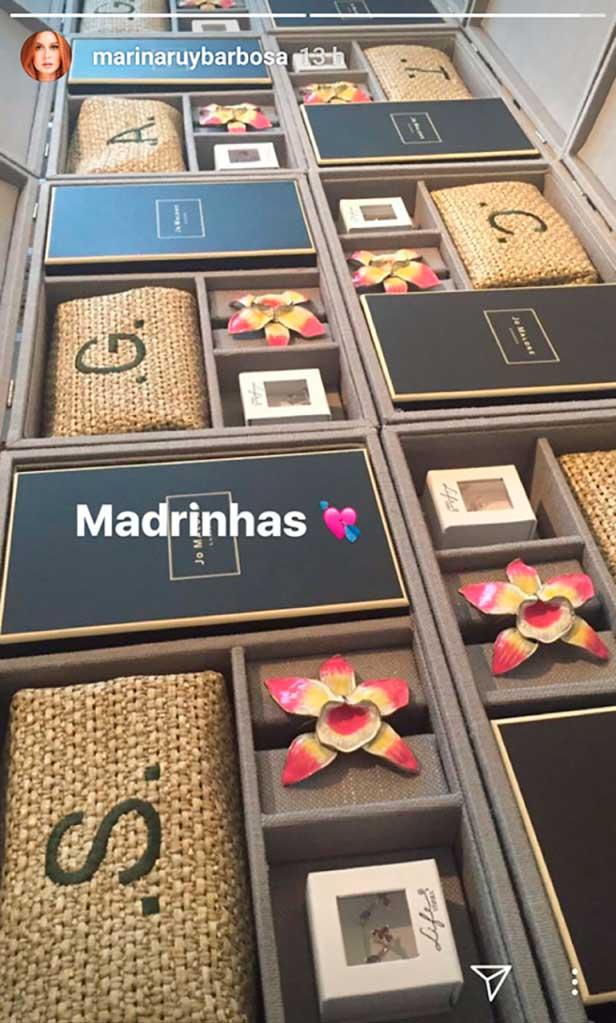 Madrinhas presente da Marina Rui Barbosa
