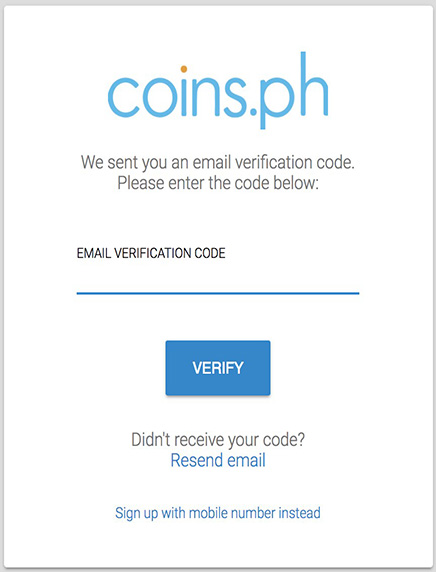 Verify An Account to Coins.ph