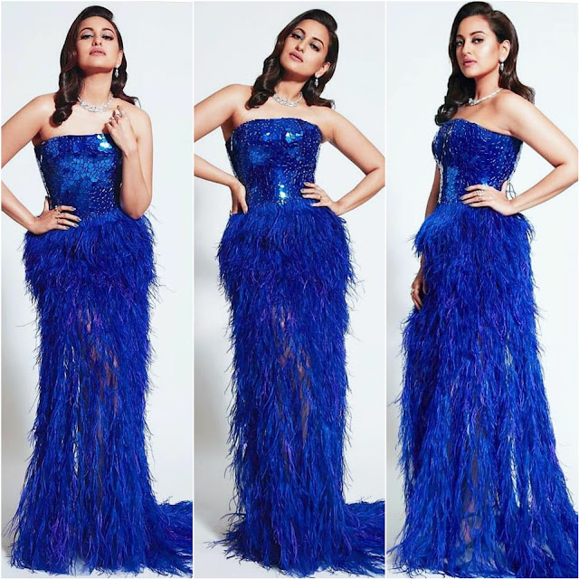 Sonakshi Sinha Wears Atelier Zuhra for the HT Style Awards 2019