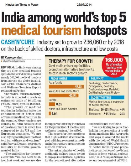 Medical Tourism - The Next Big Thing in Indian Healthcare & Tourism Industry
