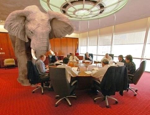O elefante na sala