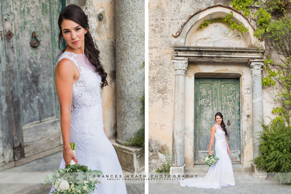 Bride portraits in Ravello