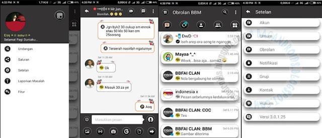 BBM Mod Minimal v04 Base Versi 3.0.1.25 Apk Terbaru For Android Clone