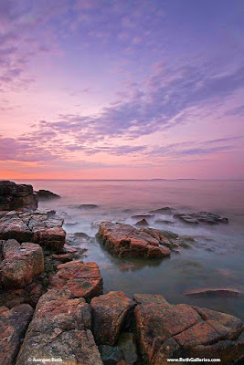 Maine Acadia National park sunrise photography images
