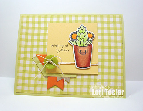 Thinking of You card-designed by Lori Tecler/Inking Aloud-stamps from Mama Elephant