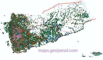 Download Free Shapefiles Layers Of Yemen - GIS English