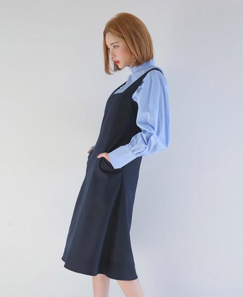 A-Line Pinafore Dress