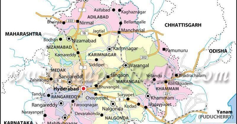 Telangana State New Districts, Revenue Divisions, Mandals