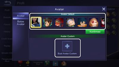 Cara Ganti Nama dan Avatar Mobile Legends