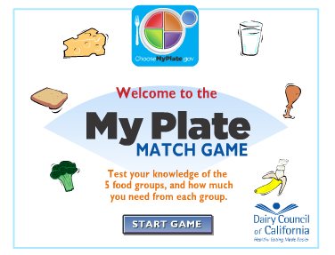 http://www.healthyeating.org/Healthy-Kids/Kids-Games-Activities/My-Plate-Match-Game.aspx