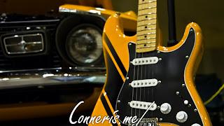 Riverfest Classic Car Show Ford Mustang Mach 1 Matching Guitar