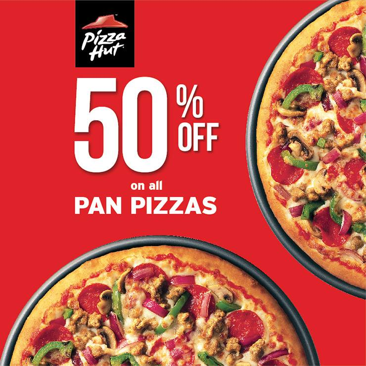 Pizza Hut: 50% Off On All Pan Pizzas Every Wednesday - The Daily Talks