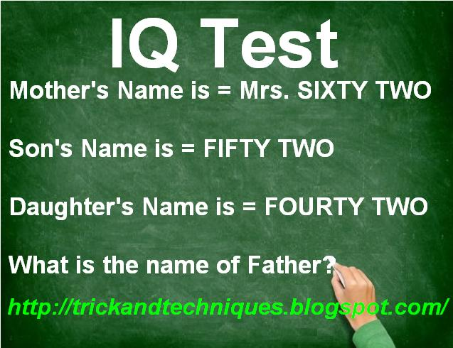 Answer it if you're Genius? IQ Test  ~ Trick and Techniques