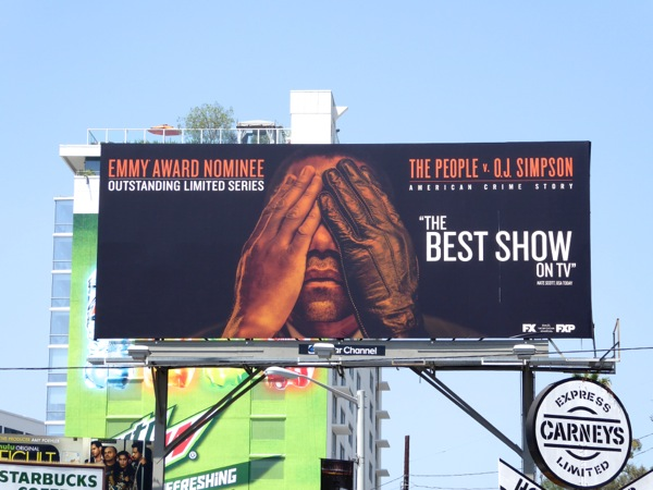 People v OJ Simpson Emmy nominee billboard