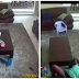 SHOCKING: A Maid caught on CCTV having S£X with a man in front of her boss' 2yr old kid… (SEE PHOTOS)