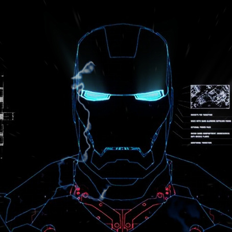 Iron Man Blueprints Wallpaper Engine