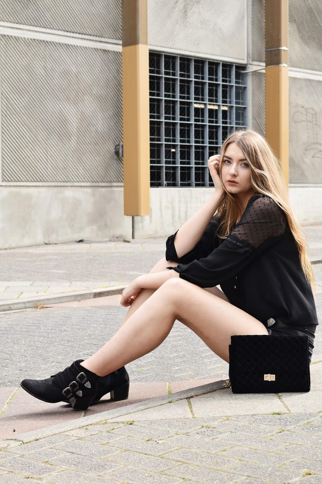 Lato w mieście jeansowe szorty