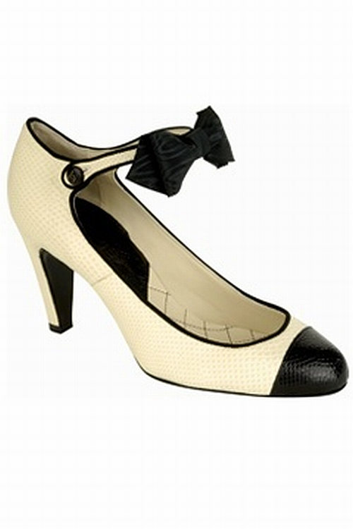 Chanel two-tone pumps with bow