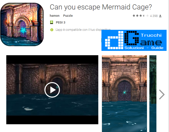 Soluzioni Can You Escape From Mermaid Cage? livello 1-2-3-4-5 | Trucchi e Walkthrough level