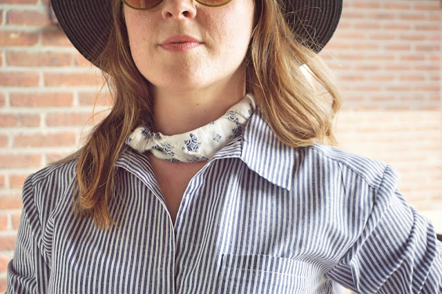 Alex shirt pattern review. Sew Over It London, handmade, striped shirt, dressmakers, fashion, autumn winter, latest make, sewing maching, over sized shirt, blue white striped, lbloggers, fbloggers, craft bloggers, sewing