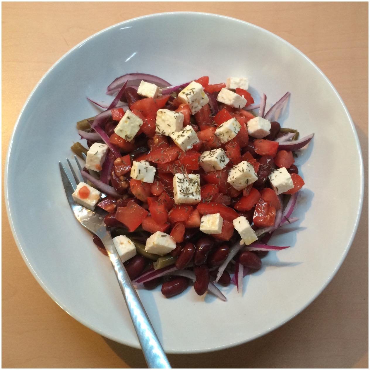 Apfelstrudel kuchen ensalada de jud as verdes tomate y queso feta color y sabor detemporada - Ensalada de judias pintas ...