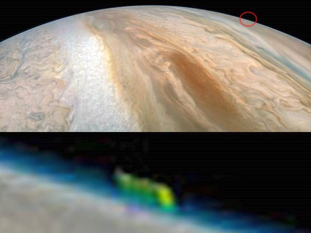 Mysterious Green Anomaly spotted on Jupiter  Jupiter%2BGreen%2BAnomaly%2B%25283%2529