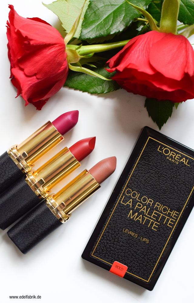 L'Oréal Color Riche, matte Lippenstifte, La Palette Matte
