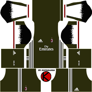 AC Milan Kits 2016/2017 - Dream League Soccer 2017 and FTS15