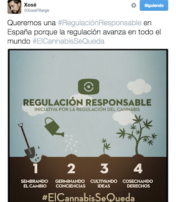 #ElCannabisSeQueda tweet Xosé Barges