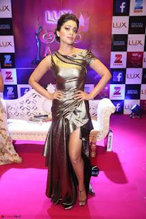 Shreya Saran in Skin Tight Golden Gown ~  Exclusive 003.JPG