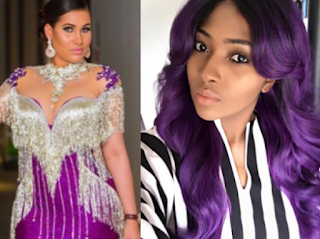 Instagram exchange between Caroline Danjuma and Lilian Esoro...