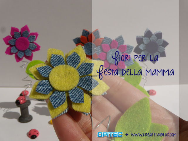 Favoloso Regalo Festa della Mamma fai da te: Fiori in Feltro - Kreattivablog RH67