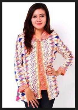 Model baju batik wanita atasan gemuk
