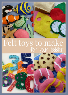 Felt toys that you can make for your toddler