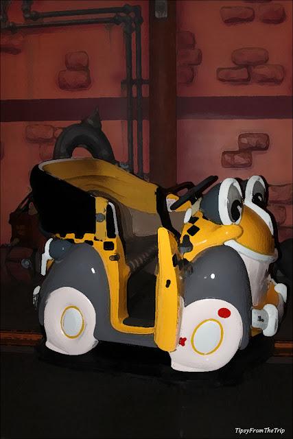 Roger Rabbit's cab, Disneyland, California.