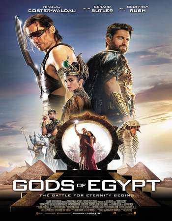 Poster Of Gods of Egypt 2016 English 400MB BRRip 720p ESubs HEVC Free Download Watch Online Worldfree4u