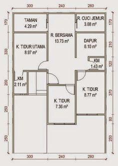 gambar denah rumah simple 4