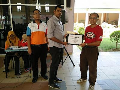 Tempat ke 5 Kategori Lelaki Kejohanan Catur Rapid Terbuka PSIS