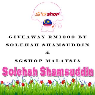 Giveaway RM1000 By Solehah Shamsuddin & SGShop Malaysia, sgshop, cara register sgshop, giveaway