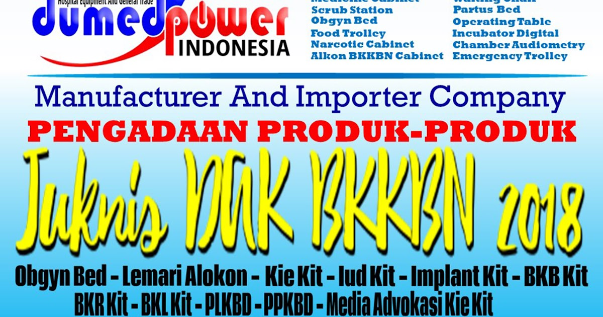 Produsen Dan Distributor Produk Dak Bkkbn 2018 2019